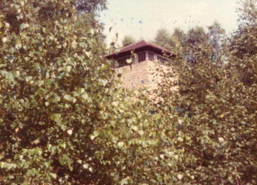 Zarośnięta wieża strażnicza