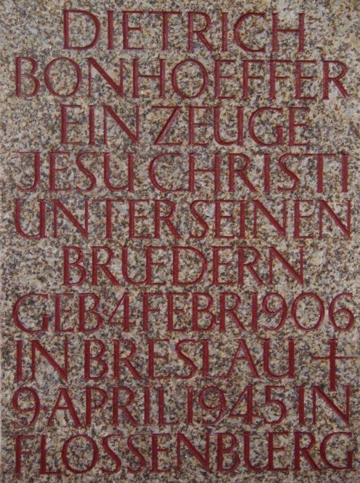 Bonhoeffer Gedenktafel 1 1