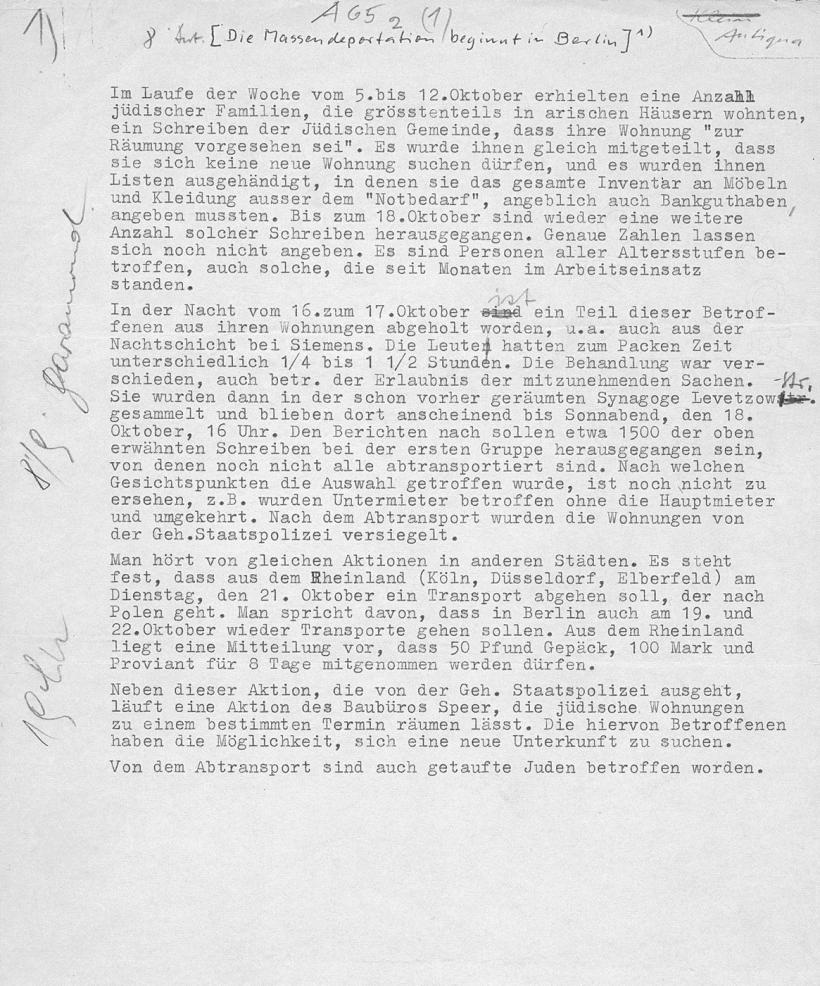 Bonhoeffer Bericht 1