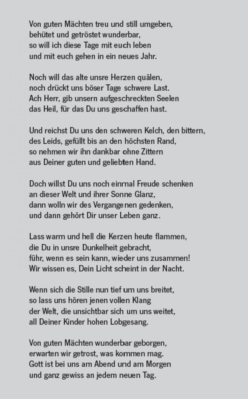 Bonhoeffer gedicht