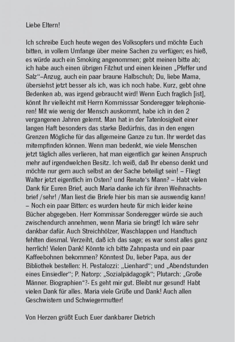 Brief Bonhoeffer