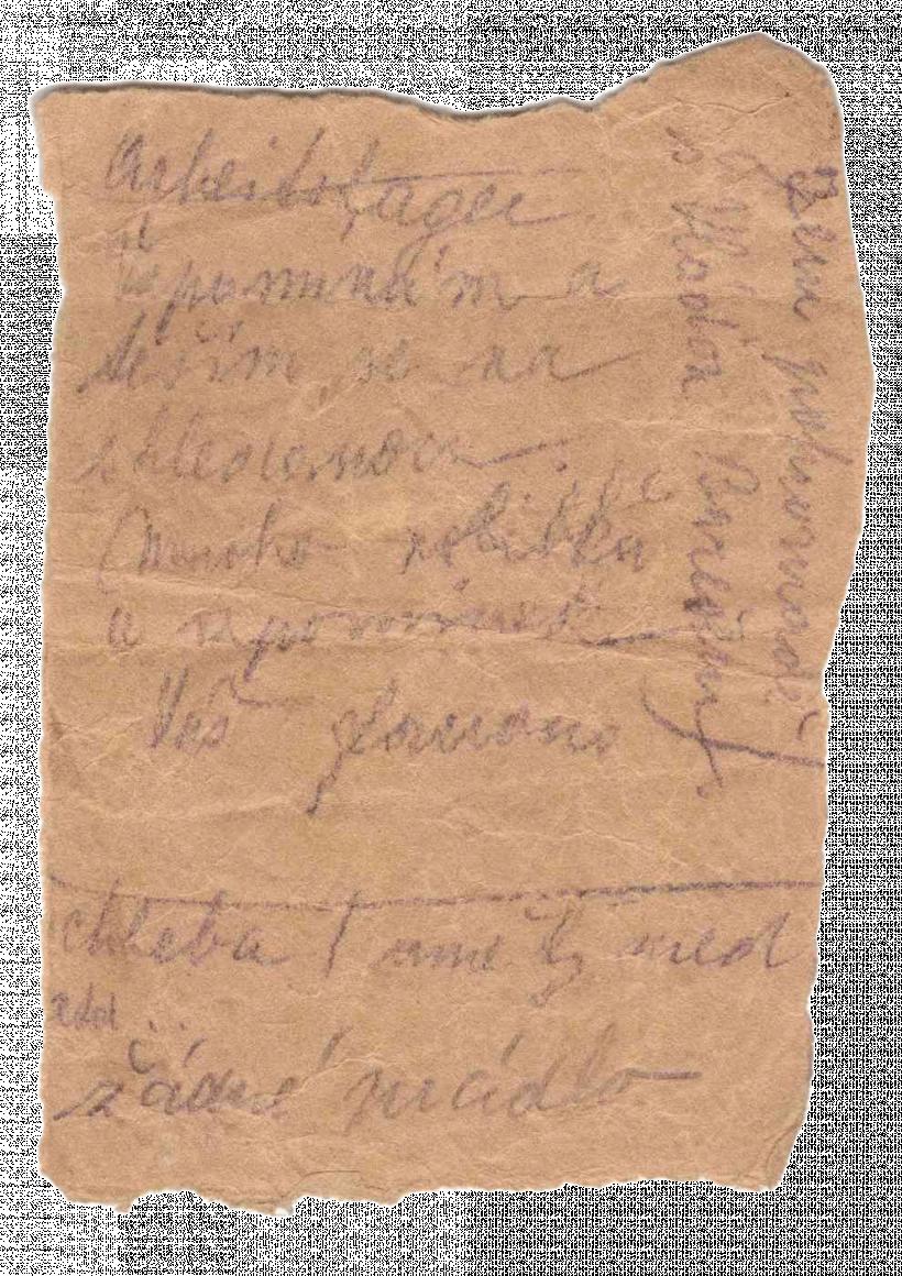 Frantisek Wretzl Kassiber b