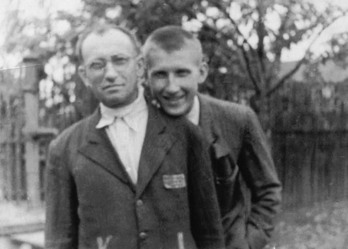 Milos Volf mit Vater