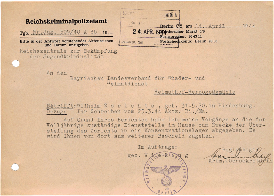 Brief Zorichta