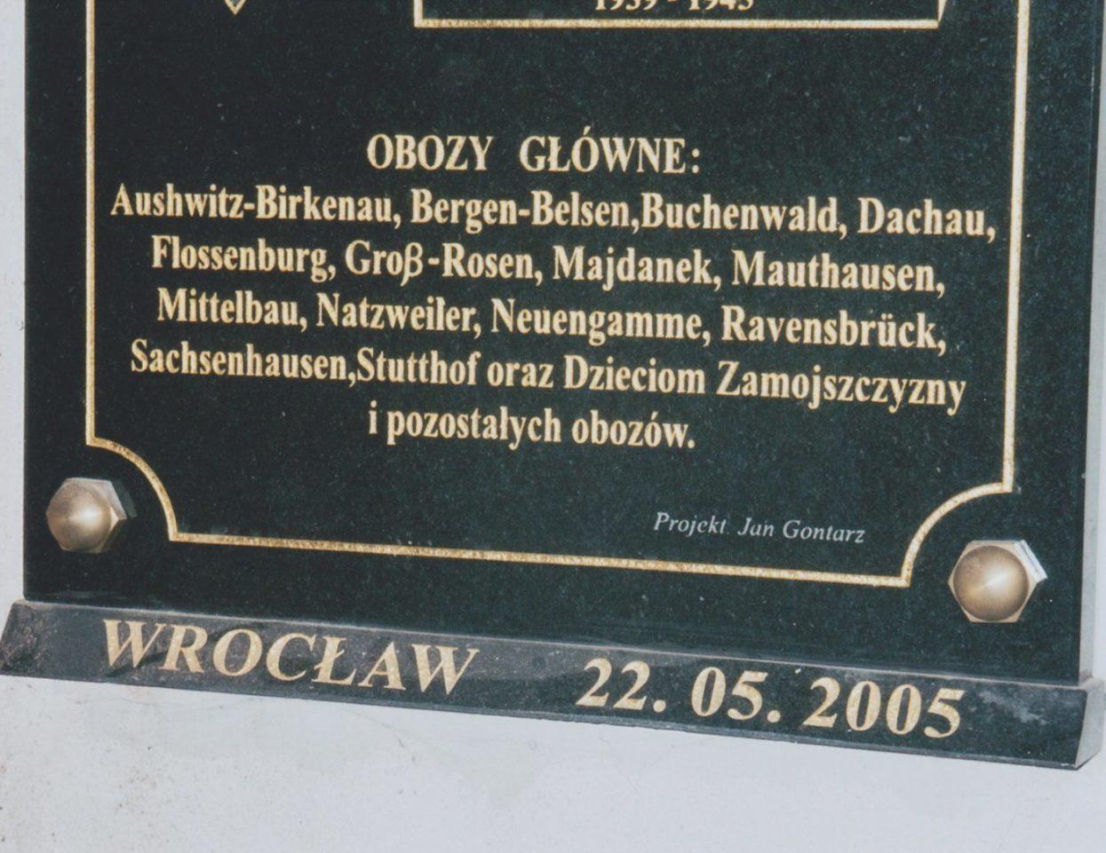 Wroclaw st elisabeth kirche tafel detail