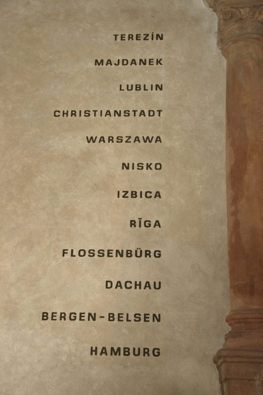 Prag pinkas synagoge inschrift